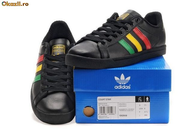Quite cool Adidas Court Star Black Green Yellow Red shoes are made just...