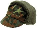 Армейская оригинальная зимняя шапка Бундесвер, BW camo...